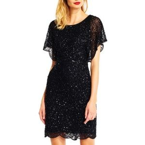 Adrianna Papell Beaded Sequin-Embellished Dress